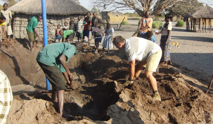 Well digging in Zambia